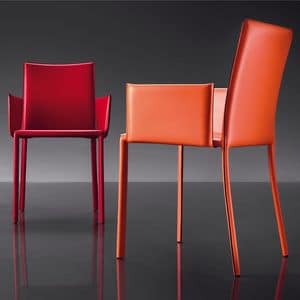 Picture of ART. 236/B SUNRISE, modern shaped chair with arms