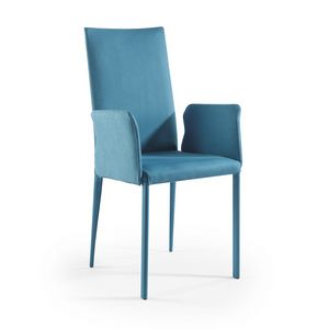 Picture of Jury high BR chromated, dining-chairs-with-armrests