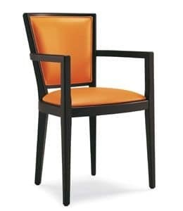Picture of 335-p, chair with arms in wood