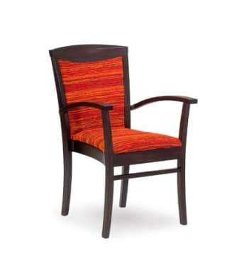 407/P STK, Stackable armchair for residential and contract use