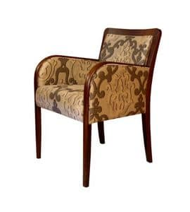 C21, Armchair in beech, upholstered, in classic style