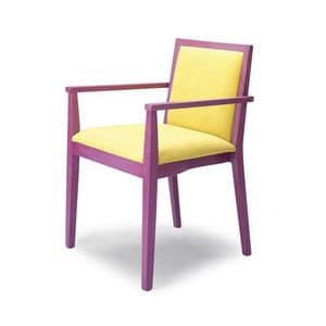 D05, Chair with armrests, made of beech wood