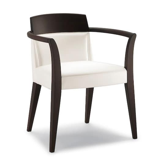 Chair with arms in wood Hotels