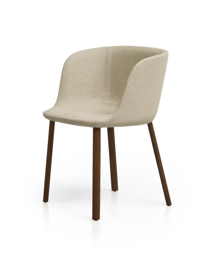 Fully upholstered armchair padded with polyurethane foam  : esse small armchair linear chair with arms 3 from www.idfdesign.com size 744 x 900 jpeg 17kB