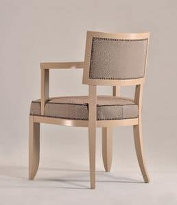 Picture of HOLLY armchair 8381A, chair with arms in wood