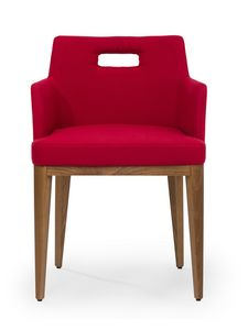 Kate ARMS hole, Armchair with hole on the back to facilitate movement