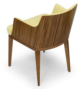 Kate wood ARMS, Small armchair in zebrano wood