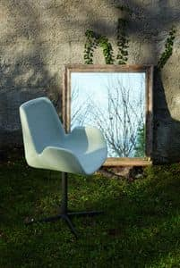 KAYRA column chair, Upholstered design chair with low 4-star base