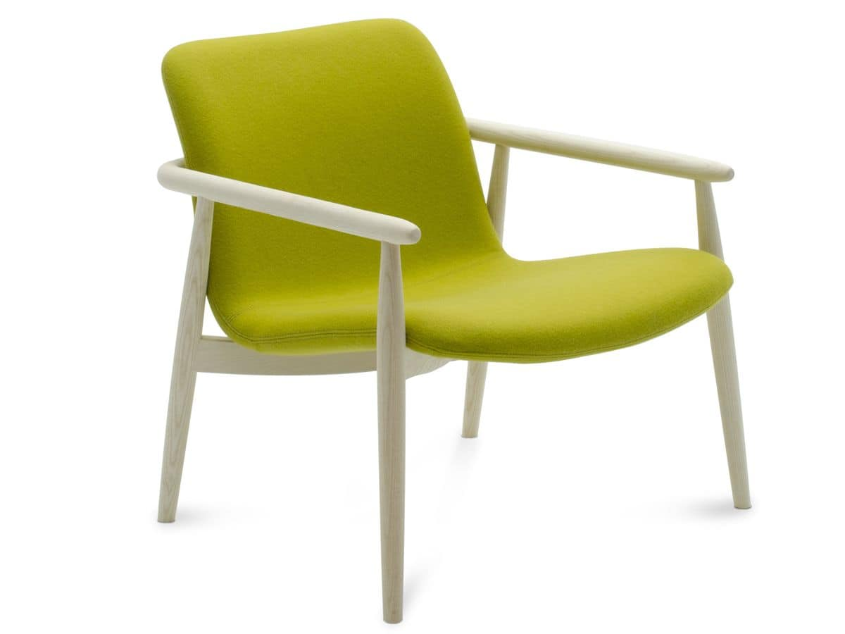 Lapis lounge, Lounge chair, with padded seat, for relax and waiting areas