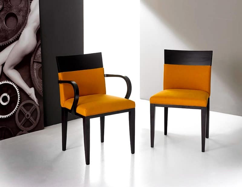 LEIN armchair 8241A, Essential chairs with arms Restaurant
