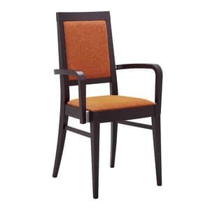 Picture of LUCKY armchair 8634A, chairs with padded shell