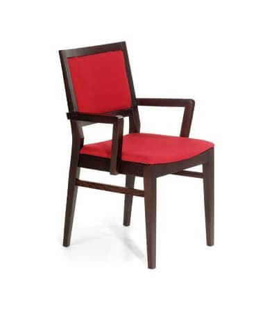 M06, Essential chair with armrests, for restaurants and bars