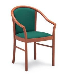 Picture of Manu chair with armrests, padded-chairs-with-arms