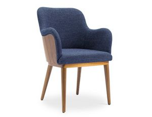 Melita-P, Padded armchair, upholstered in leather or fabric