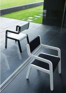 MOKI, Chair with armrest, can be hanged to the table