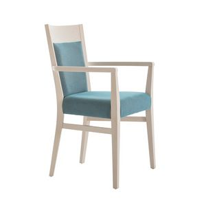 MP472EP, Padded chair with armrests for restaurant