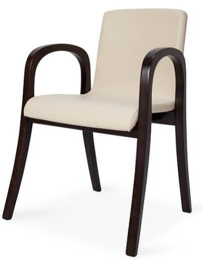MV 2A, Modern chair with armrests, different finishes