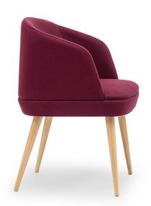 Noemi ARMS, Small armchair with wooden legs