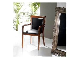 PEGGY armchair 8247A, Upholstered armchair covered in leather, stackable