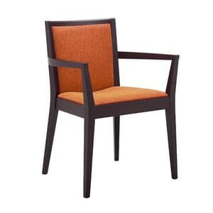 Picture of TOUCH armchair 8639A, chairs with arms in wood