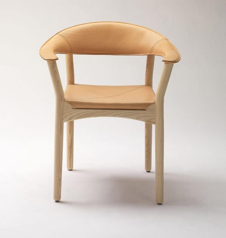 Seats chairs modern wood with padded seat and back with for Wood dining chairs with arms