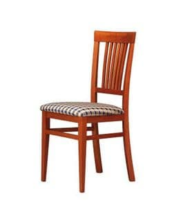 316, Padded chair with wooden back, for bars and hotels