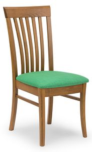 Anna, Chair with vertical slats backrest