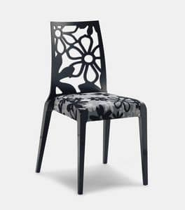Art. 152, Wooden chairs, backrest with flower texture