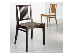 Picture of ART. 225 NOEMI, chairs with vertical patterned backrest