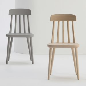 ART. 304 GIORGIA, Chair in ash, with vertical pattern backrest