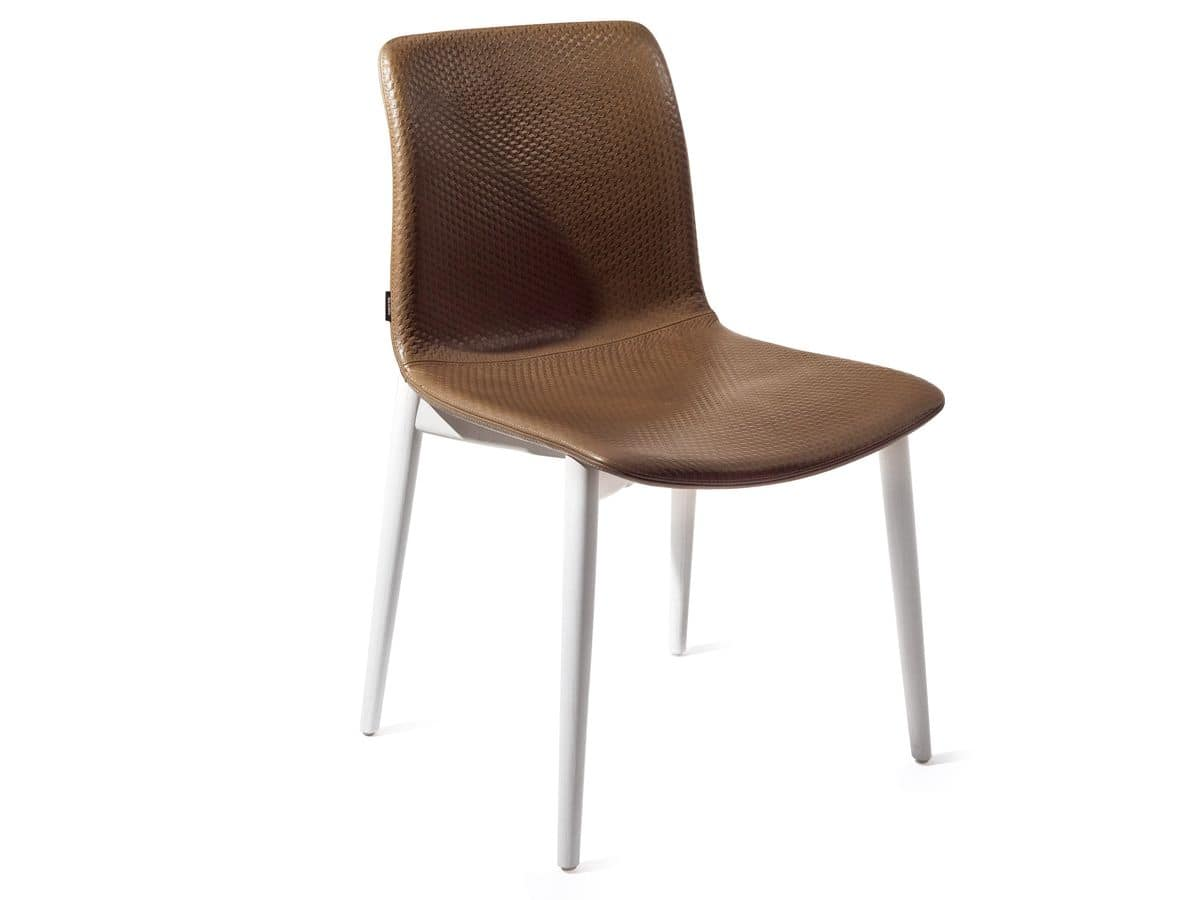 Superb img of HOME P10 Modern Products Seats Chairs Modern Wood with padded seat and  with #412820 color and 1200x900 pixels