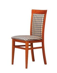312, Padded wooden chair, simple and strong, for bars
