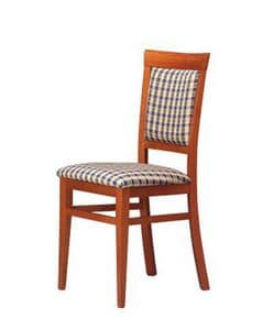 313, Dining chair, in beech, for ice cream parlor and bars