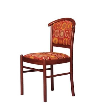 407 3/4, Beech padded chair, for conference room and bar