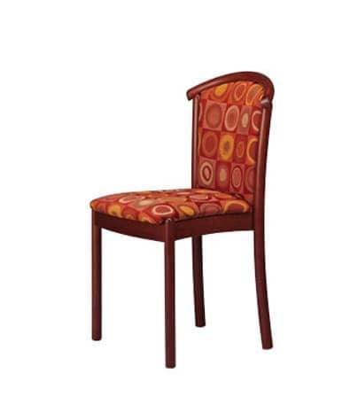 407 STK, Dining chair, beechwood, upholstered, for hotels