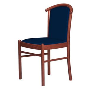 C09, Chair with wooden base, padded, for hotels and restaurants