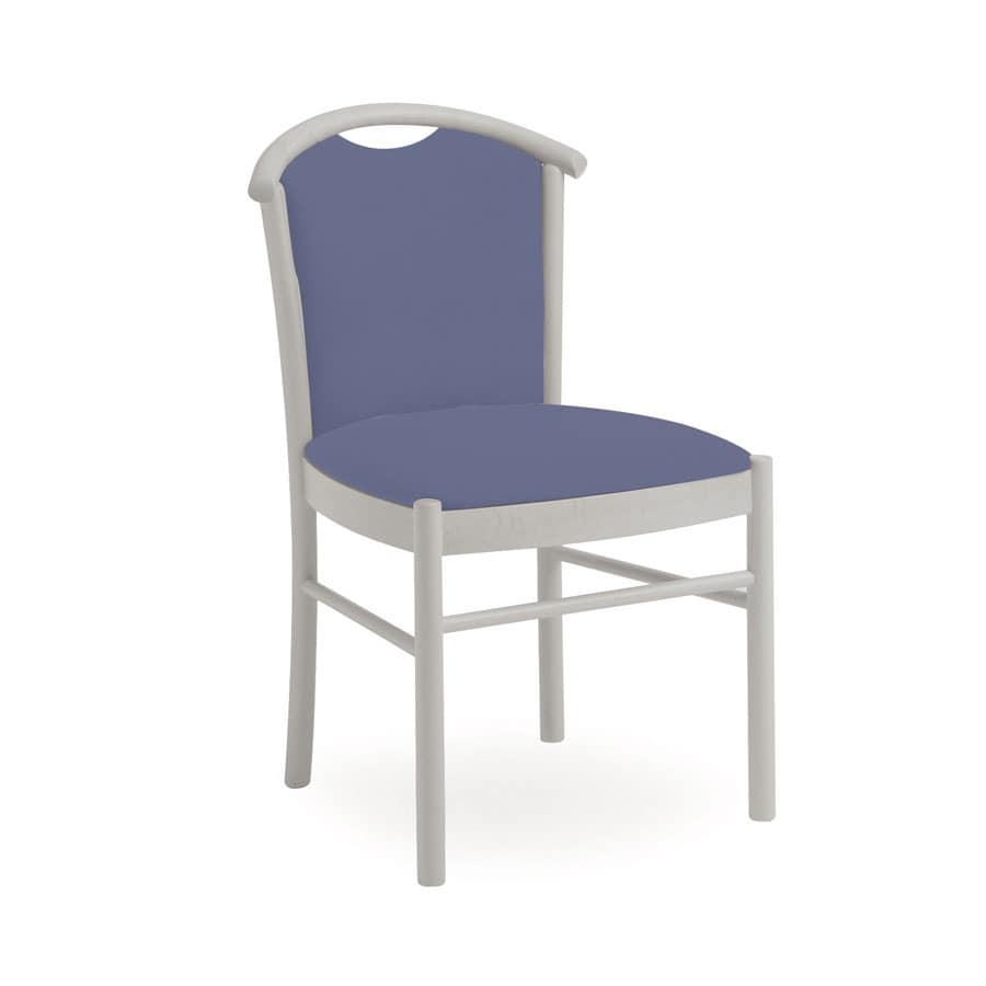 Dolly L1060 M, Padded wooden chair, with handle, for restaurant