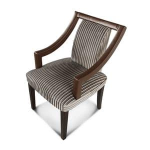 Elizabeth chair, Padded chair with armrests, wooden structure