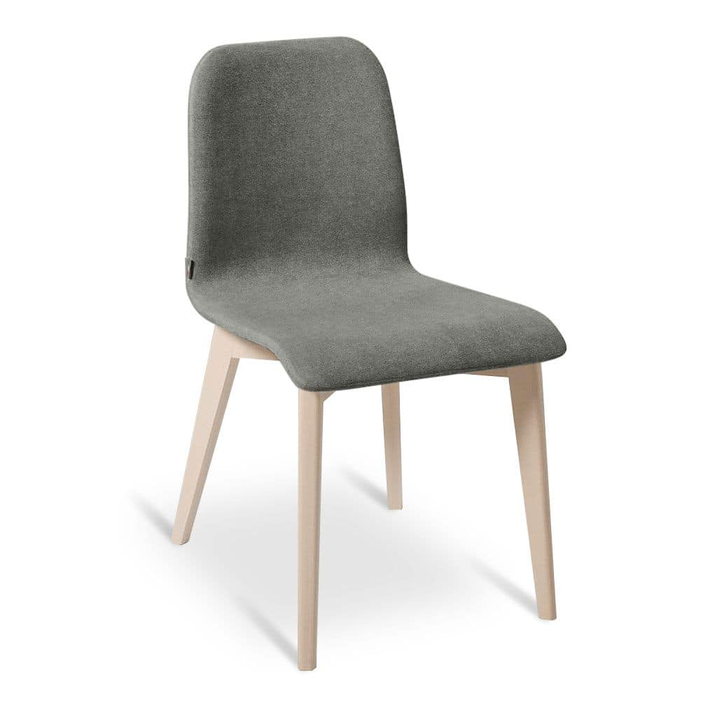 Glenda Beech Wood Chair Upholstered For Dining Rooms