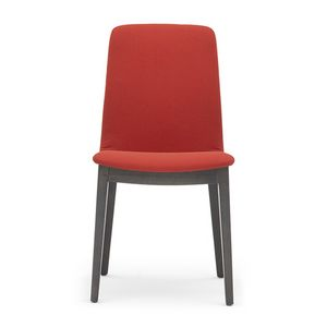 Light 03211, Padded chair in wood with handle, for restaurants