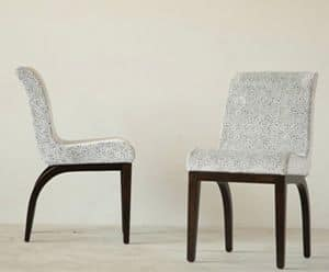 Mito chair, Upholstered chair, with birch wood structure
