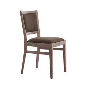 MP472G, Stylish wooden chair, padded