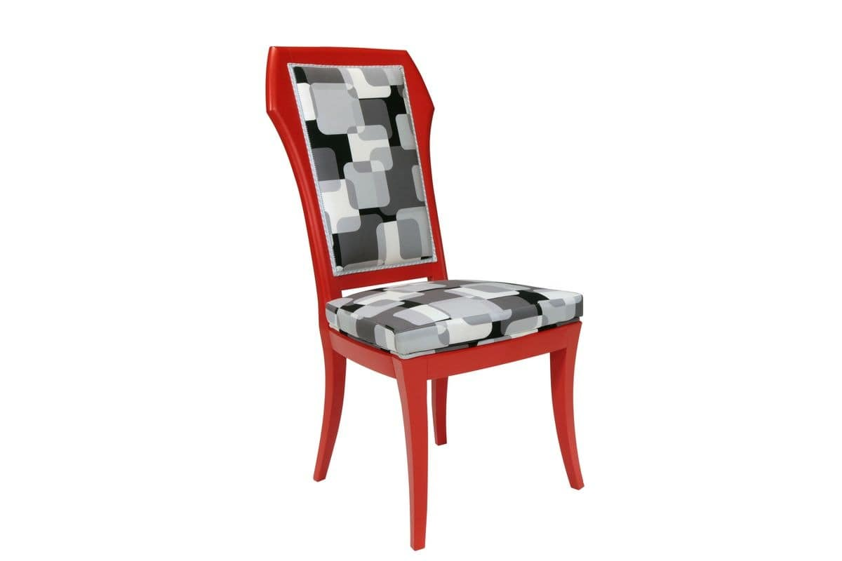 Red chair for kitchen, modern chair for dining room  Red Chair by