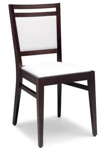 Picture of SE 4472 / C, upholstered wooden dining chair