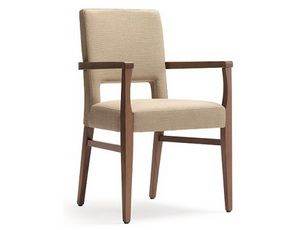 Selene-P, Chair with armrests recommended for hotels, restaurants and bars