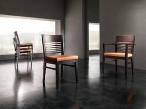 Picture of CHANCE chair 8598S, linear dining chair