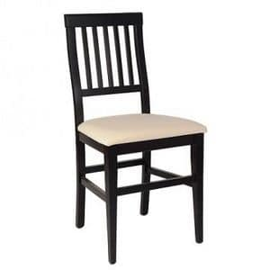 Giusy, Chair in beech wood for the home and the conctract use