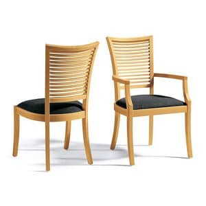 Picture of RENE' A, wooden chairs with padded seat
