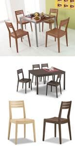Picture of Unica G/1660, wooden chairs with padded seat