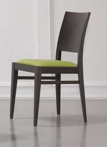 Picture of 330, wooden chair with padded seat